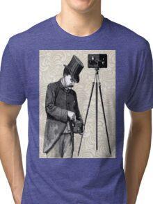 Victorian Steampunk Photographer Camera Tri-blend T-Shirt