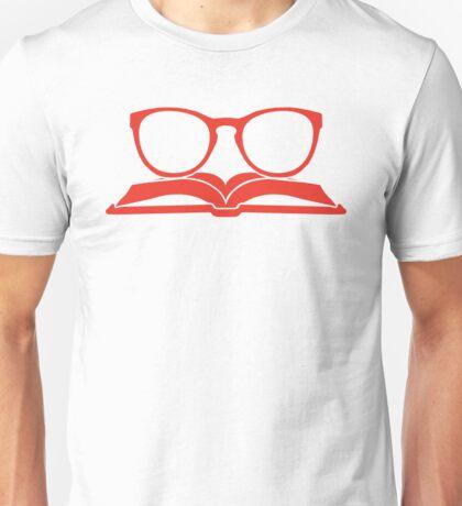 Book Nerd 3 (Red) Unisex T-Shirt