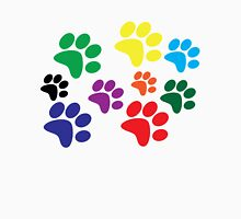 Colored Dog Paws. Women's Fitted Scoop T-Shirt