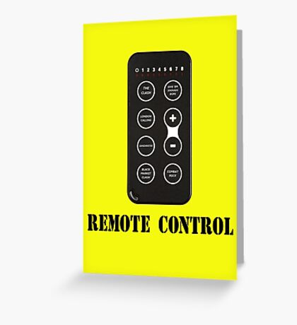 Remote Control Greeting Card