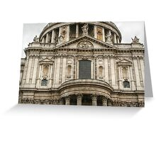 Above the South Entrance of Saint Paul's Cathedral Greeting Card