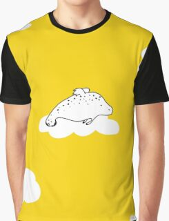 Flying Manatee by Amanda Jones Graphic T-Shirt