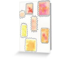 Geometric Stains Card Greeting Card