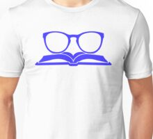 Book Nerd 3 (Blue) Unisex T-Shirt