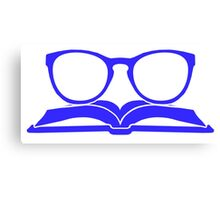 Book Nerd 3 (Blue) Canvas Print