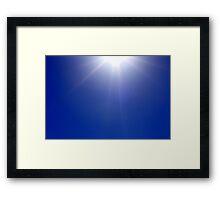 Sun Rays on Clear Blue Sky Framed Print