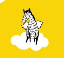 Flying Pony by Amanda Jones Sticker