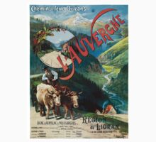 L'Auvergne, French Travel Poster Kids Tee