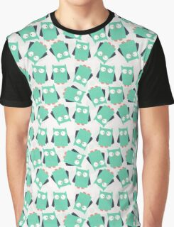Cute Teal Owls Graphic T-Shirt