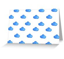 Set of watercolor clouds for design Greeting Card