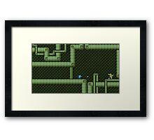 Mega Man vs Snake Man Framed Print