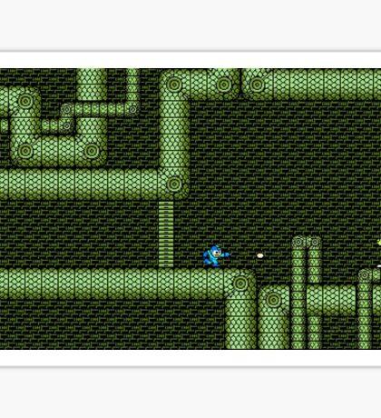 Mega Man vs Snake Man Sticker