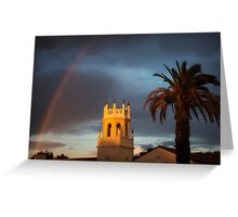 Malaga Cove Rainbow - Palos Verdes Estates, CA Greeting Card