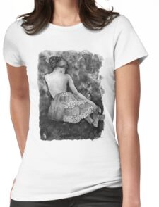 Monochrome beauty Womens Fitted T-Shirt