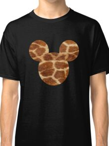 Mouse Giraffe Print Patterned Silhouette Classic T-Shirt