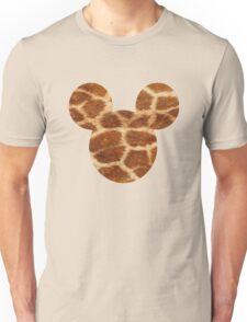 Mouse Giraffe Print Patterned Silhouette Unisex T-Shirt