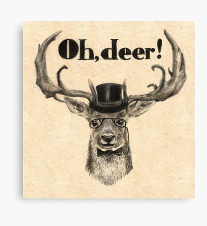 Oh, deer me! Canvas Print