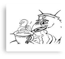 Tea Party Hatter Raven Canvas Print