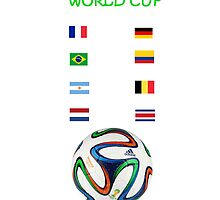 Brazil World Cup Quarter-Finals by JoAnnFineArt