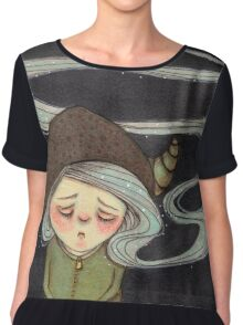 Sad Little Gnome Girl Chiffon Top