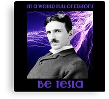 Nikola Tesla two Canvas Print
