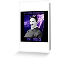 Nikola Tesla two Greeting Card