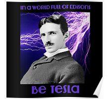 Nikola Tesla two Poster