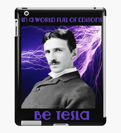 Nikola Tesla two iPad Case/Skin