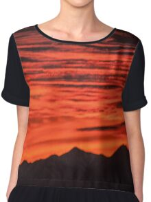 Sunset over the Mountains Chiffon Top