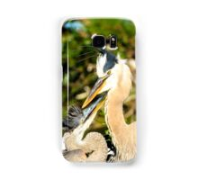 Great Blue Herons Adult with Young Samsung Galaxy Case/Skin