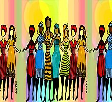 Sisters in Diversity Dress by Sarah Curtiss
