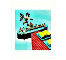 Holiday Motel Lodge Sign Art Print
