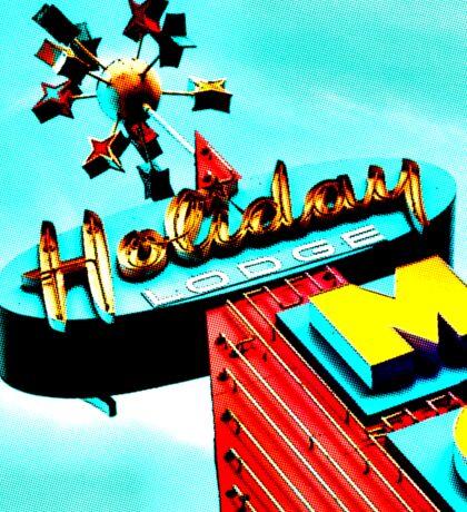 Holiday Motel Lodge Sign Sticker