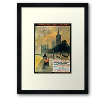 Paris a Londres, French Travel Poster Framed Print