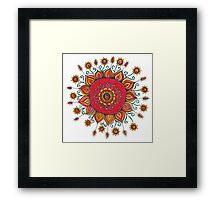 Flower Manadala Framed Print