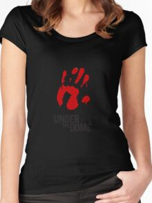 Under The Dome Bloody Hand Women's Fitted Scoop T-Shirt