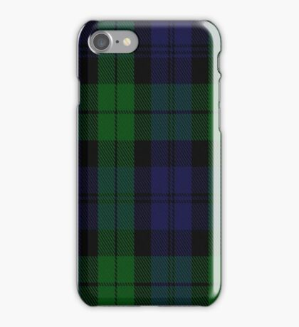 01687 Black Watch Military Tartan  iPhone Case/Skin