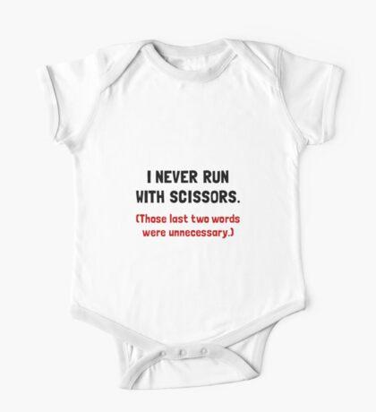 Never Run With Scissors One Piece - Short Sleeve