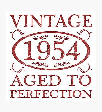 Vintage 1954 Birth Year Photographic Print