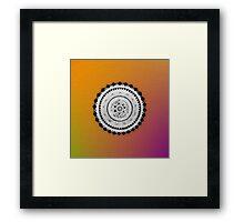 Psychedelic Molecule Framed Print