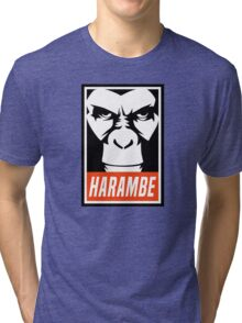 Harambe (OBEY Meme) Gorilla Shirt, Phone Case, Stickers Tri-blend T-Shirt