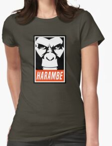 Harambe (OBEY Meme) Gorilla Shirt, Phone Case, Stickers Womens Fitted T-Shirt