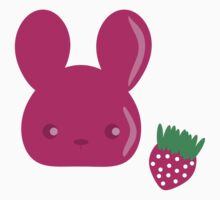 strawberry fruit bunny Kids Clothes