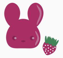 strawberry fruit bunny One Piece - Short Sleeve