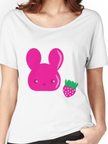 strawberry fruit bunny Women's Relaxed Fit T-Shirt