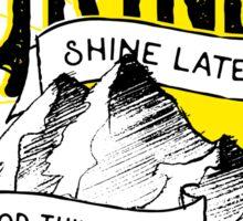 Rise, Grind, Shine, Hustle Quote Design Sticker