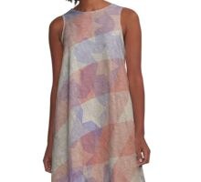 Artistic American Flag A-Line Dress