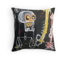 Basquiat 's ideas on Justice and huge dick Throw Pillow