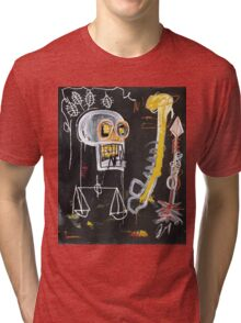 Basquiat 's ideas on Justice and huge dick Tri-blend T-Shirt