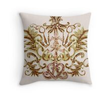 Pink and Gold Sequin Pattern Throw Pillow